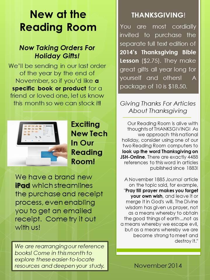2014-11-06 RR Newsletter